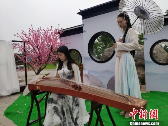 古筝表演。 王昊昊摄
