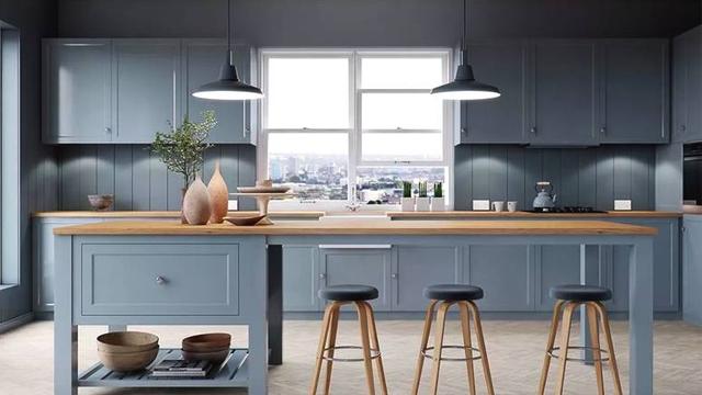 22款蓝色系厨房设计 呈现别样的灵动与清澈