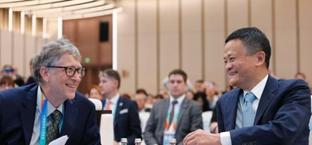比尔·盖茨与马云共同出席虹桥国际经贸论坛