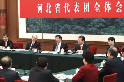 王沪宁参加河北省代表团审议