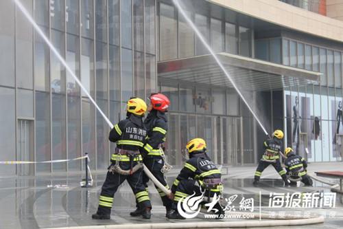 青岛市消防支队_市南联合青岛消防救援支队开展消防应急救援演练_青岛频道_凤凰网