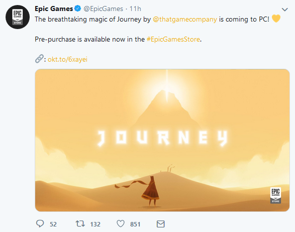 Epic Games宣布《風之旅人》6月6日登陸PC平臺 預售價格8.99