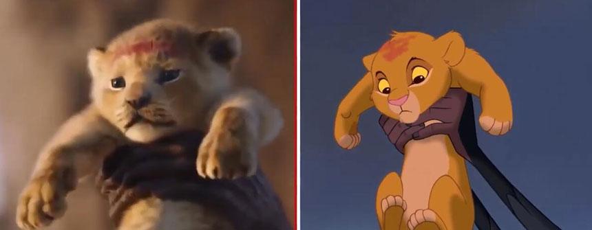 2019 vs 1994 《狮子王》新老动画电影画面对比