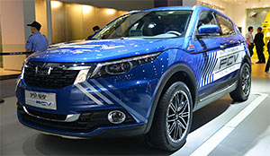 实拍观致FCV 氢燃料电池车型