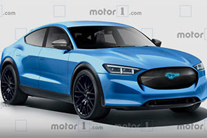福特野马电动版概念图发布 或于年内亮相